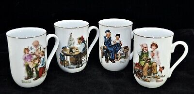 $ CDN28.55 • Buy Vintage Norman Rockwell Mugs, Set Of 4, Museum Collection 1982, MINT