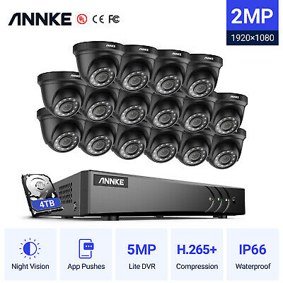 £53.99 • Buy ANNKE CCTV System 5MP Lite DVR Outdoor Dome Night Vision IP66 Home Security Kit