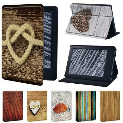 Wood PU Leather Cover Case For Amazon Kindle 8th 10th Paperwhite 1/2/3/4 + Pen • 7.99£