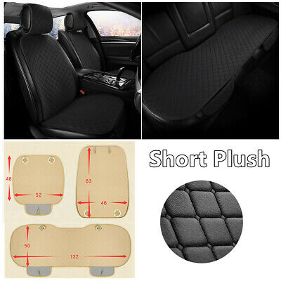 Short Plush Full Set Car Seat Covers Accessories Split Front Seat Cushion Pad • 43.89£