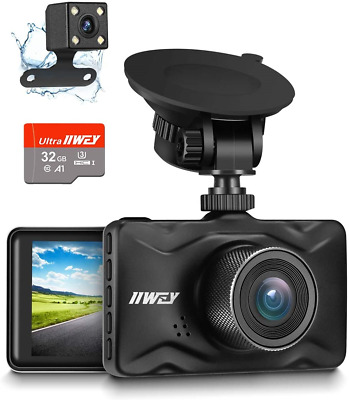 AU88.61 • Buy IIWEY Dash Cam For Cars 1080P Front And Rear Car Camera With Night Vision Dual 3