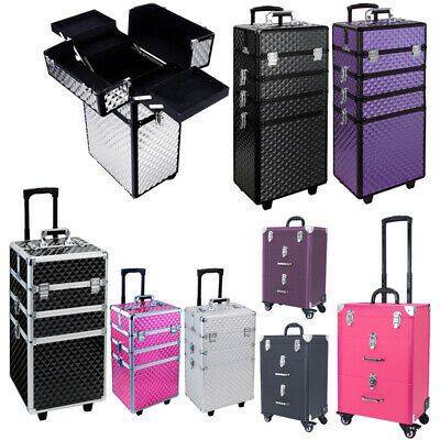 3/4 In 1 Detachable Makeup Case Artists Cosmetics Trolley Travel Organizers Box • 52.95£