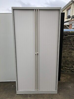 Bisley Tambour Steel Filing Storage Workshop  Garage Stable Cabinet Cupboard • 95£