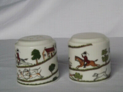 Coalport  Hunting Scene  Cruet Set Salt And Pepper • 9.25£