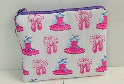Kiltykatdesigns Handmade 100% Cotton Ballet Tutu And Shoes Fabric Toilet/Bag • 4£