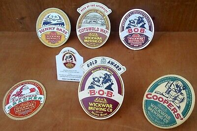 Collection Of Wickwar Brewery Gloucestershire Beer Pump Clips • 1.99£