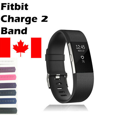 $ CDN3.84 • Buy For Fitbit Charge 2 Band Replacement Wrist Strap Silicone Smart Watch Band S & L