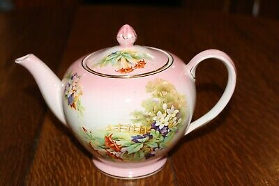 $ CDN150 • Buy Royal Winton Grimwades Teapot Made In England Green Backstamp Floral Pattern