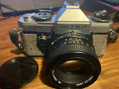 Yashika FX-D 35mm Camera. Worked When Last Used. Not Checked. Leather Case • 25£