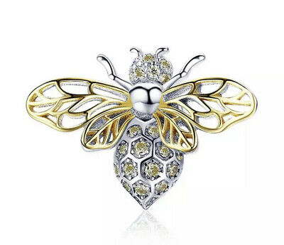 £18.99 • Buy New Queen Bee Cz Stopper Large Charm Genuine 925 Sterling Silver For Bracelets🐝