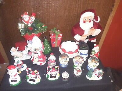 $ CDN15.17 • Buy Lot Of 20 Vintage-Now Christmas Decorations-Figurines, Snow Globes, & More