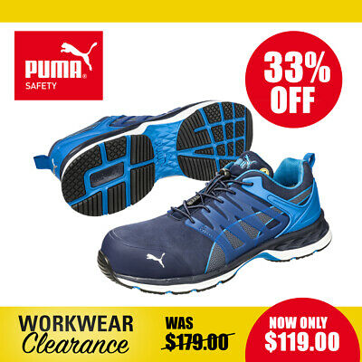 AU119 • Buy Puma Safety Work Boots 643850 Velocity 2.0 Blue NEW With Tags