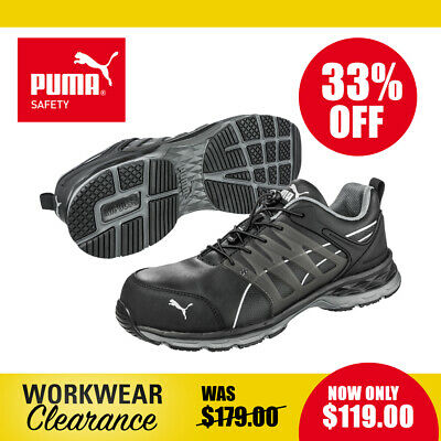 AU119 • Buy Puma Safety Work Boots 643840 Velocity 2.0 Black NEW With Tags