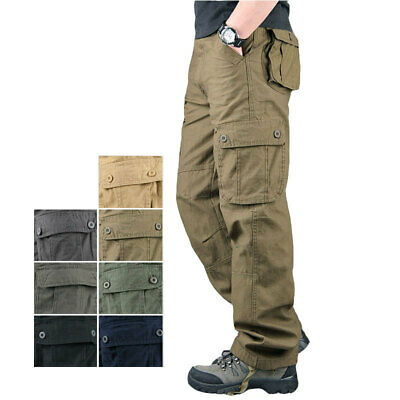 $29.99 • Buy Men's Tactical Cargo Army Work Trousers Combat Outdoor Pocket Pants Plus Size
