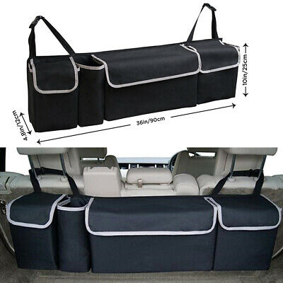 AU28.65 • Buy Car Trunk Organizer Car Interior Accessories Seat Back Storage Box Bag Black