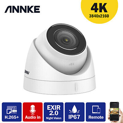 ANNKE 4K 8MP Dome POE CCTV Camera IP67 Network For Home Security POE System C800 • 79.69£