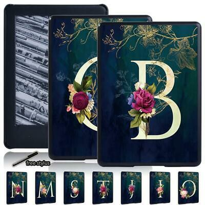 Initial Letter Leather Cover Case For Amazon Kindle 8th 10th Paperwhite1/2/3/4 • 5.49£