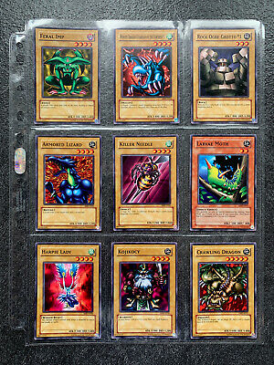 YuGiOh Metal Raiders MRD Complete Set Of Near Mint / Mint Commons Original Print • 45£
