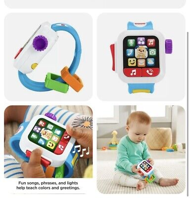 £8.89 • Buy Fisher-Price Laugh & Learn Time To Learn Smart Watch, Musical Baby Toy Inc Batt