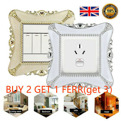 Wall Resin Socket Plate Switch Surround Single Sticker Home Decoration Cover UK • 2.79£