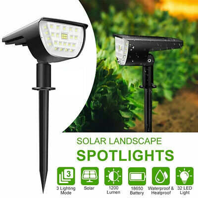 32 LED Solar Powered Spotlight Outdoor Landscape Garden Yard Waterproof Light UK • 11.93£