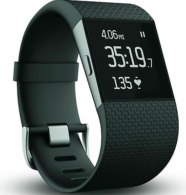 $ CDN63.58 • Buy Fitbit Surge Fitness Super Watch With Heart Rate Monitor BLACK - Small