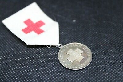 RARE French Military Medal: Red Cross Relief For The Wounded • 20£