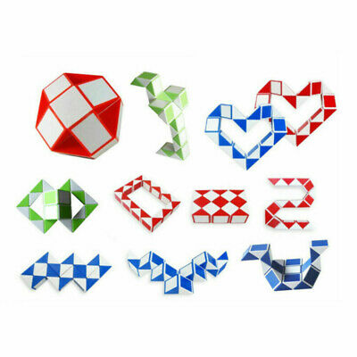 New Magic Cube Snake Rubiks Rubix Rubic Game Puzzle Party Travel Family Kids Toy • 3.99£