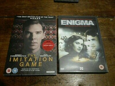 The Imitation Game And Enigma Dvd • 4.99£