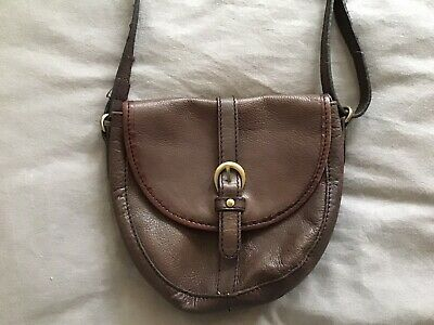 £12 • Buy Small Brown Genuine Leather Shoulder / Cross Body Bag By Gharani Strok