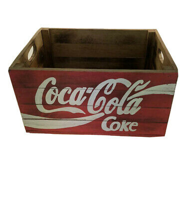 Coca Cola Coke Vintage Reproduction Wooden Crate  Bar Man Cave, Small Size • 15.95£