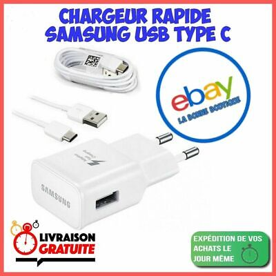 $ CDN10.78 • Buy Chargeur Samsung Galaxy S8 / S8 PLUS S9 / S10 Charge Rapide + Câble TYPE C