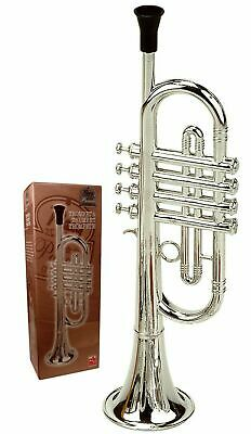 Childrens Trumpet Silver Musical Instrument Ideal First Musical Music Toy Silver • 34.99£