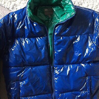 £55 • Buy PVC  CHILE Style Wet Look Glanz Pride Shiny  Jacket Cal Surf ASOS Gloss Blue