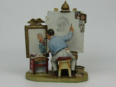 $ CDN45.41 • Buy 1978 Norman Rockwell's Triple Self Portrait Figurine Gorham Mint Condition