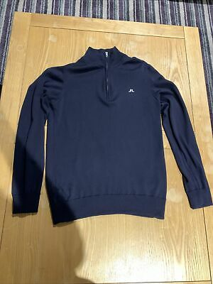 J.lindeberg Kian Golf Jumper Large Navy • 25£