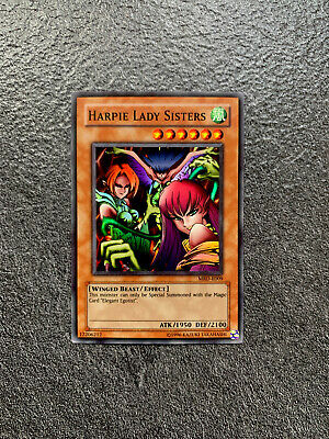 YuGiOh Harpie Lady Sisters Super Rare MRD-E009 Metal Raiders Near Mint OG Print • 9.90£