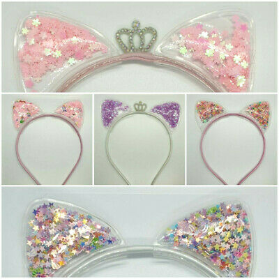 £3.49 • Buy Filled Cat Ears Headband Crown And Sparkly *UK STOCK*
