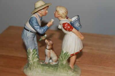 $ CDN44.12 • Buy Norman Rockwell Beguiling Buttercup Gorham Bisque Ceramic Figurine