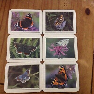 Set Of 6x Butterfly Coasters • 2.99£