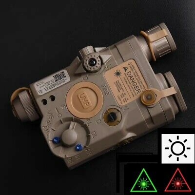 WADSN PEQ15 LA5-C UHP LED White Flashlight 2 Colors Laser Aimming Device - TAN • 48£