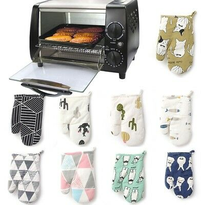 £2.81 • Buy 1PC Resistant Heat Proof Cotton Gloves Cooking Microwave Oven Mitts Kitchen Tool
