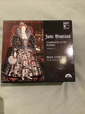 John Dowland Complete Lute Works - Paul O'Dette 5 CDs Like New • 30£