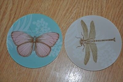 2 NEW Coasters Butterfly Dragonfly • 1.50£