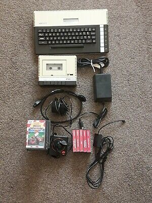 Atari 800xl Computer, 1010 Tape Player,power Supplies,cables,23 Cassettes.  • 50£