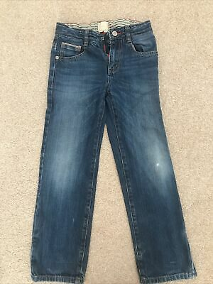 Boys Age 8 Yrs Joules  Blue Denim Jeans With Adjustable Waist. • 1.20£