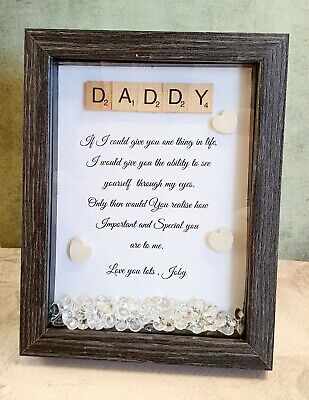 Personalised Poem Frame. ,Scrabble Picture Frame, Scrabble Family Frame ,Gran • 16.50£