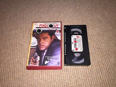 Marlowe Private Eye - Pre-Cert Big Box VHS Video Powers Boothe Palace • 3£
