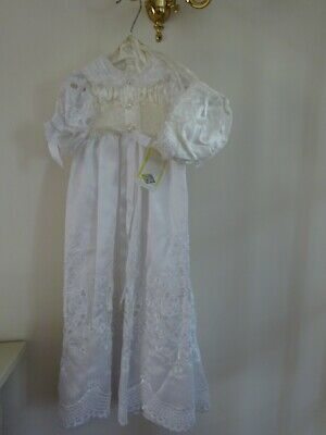Vintage Irene Renee Christening Gown Dress 6-12 Months With Bonnet * • 4.99£