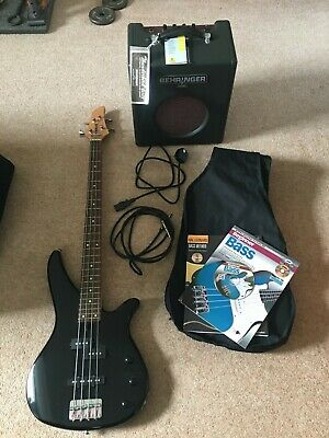 Yamaha RBX 170 Bass Guitar With Case + Behringer Thunderbird Bx108 15W  Amp • 66£